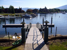 Custom Made Boat Dock in Lake Tahoe